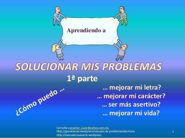 Solucion de problemas  escritura