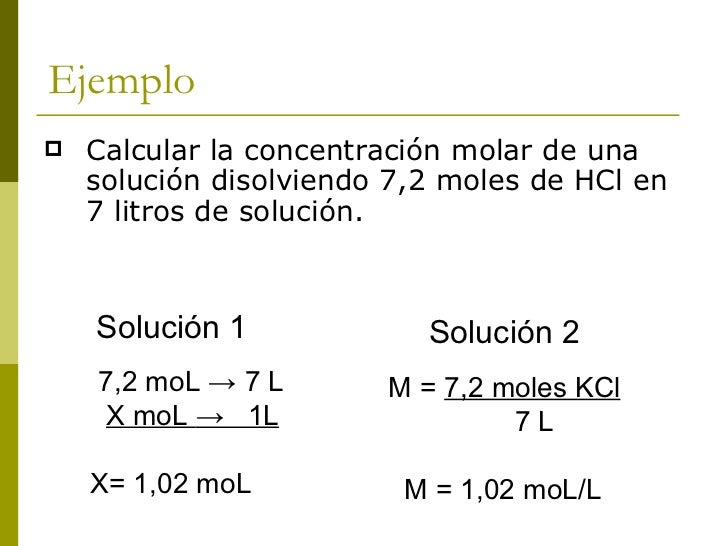Analizando    Como n =      m (g)                  MM (g/moL)  M=     mol de soluto      Reemplazando se tiene que       ...