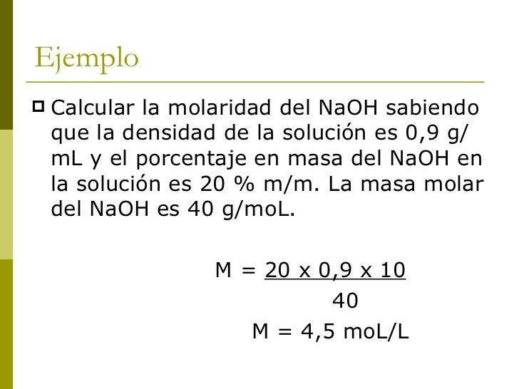 CONCENTRACIÓN EN UNIDADES QUÍMICAS     Normalidad (N): Indica el número de      equivalentes de soluto en un volumen     ...