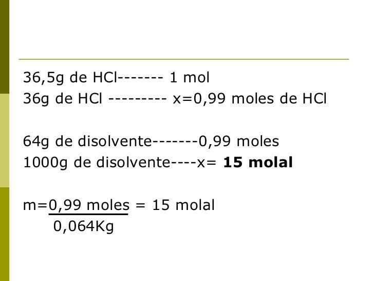 CONCENTRACIÓN EN UNIDADES QUÍMICAS     Fracción molar (X): permite expresar      la concentración en función de cada     ...
