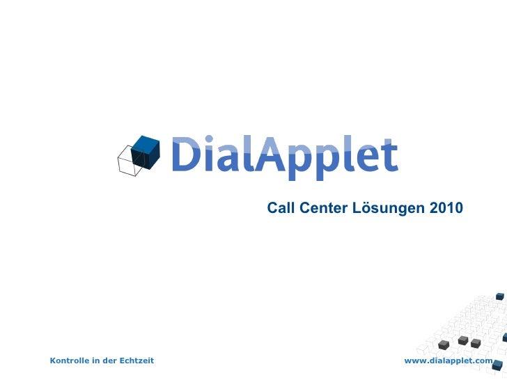Call Center Lösungen 2010