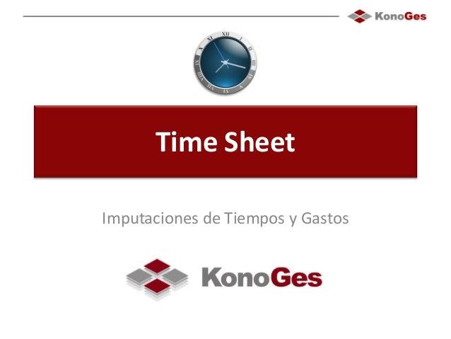 Time Sheet Imputaciones de Tiempos y Gastos