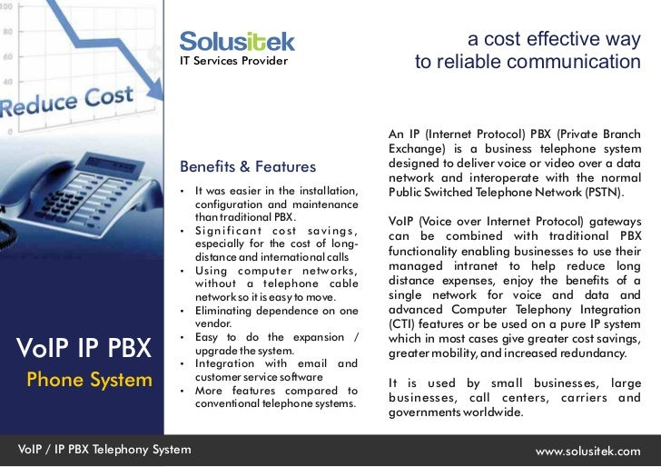 a cost effective way                            IT Services Provider                        to reliable communication     ...