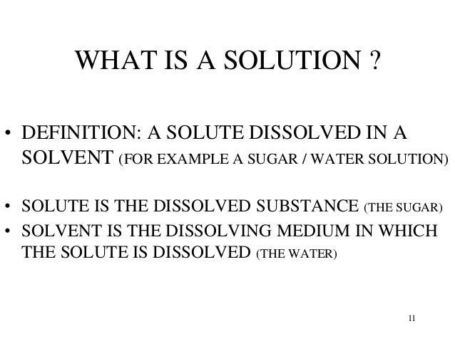 Image Result For Solution Chemistry Definitiona