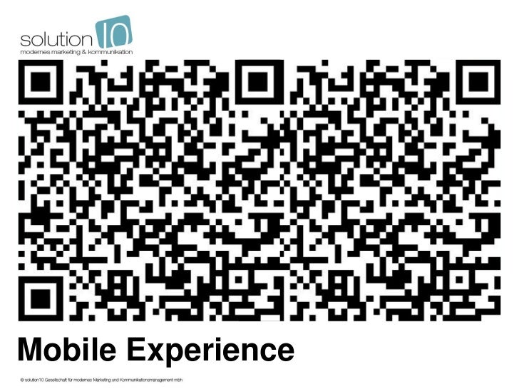 Solution 10 mobile experience_110411