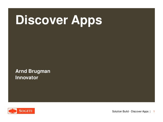 Solution Build Discover Apps