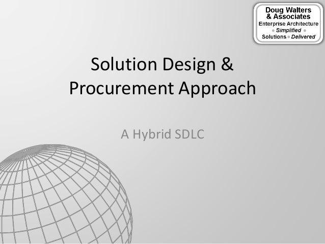 A Hybrid SDLC Solution Design & Procurement Approach