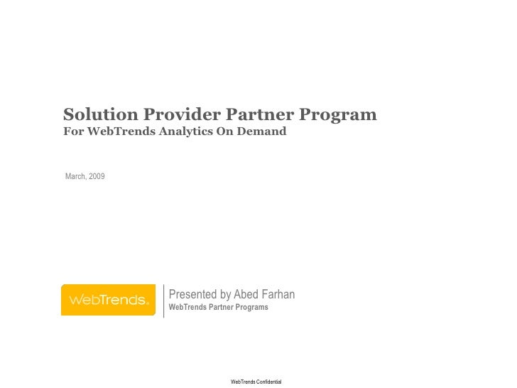 WebTrends Partner Program Preso