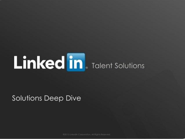 LinkedIn Talent Solutions 360 Tour