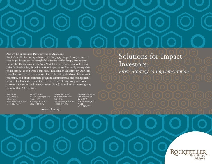 Solutions for Impact Investors