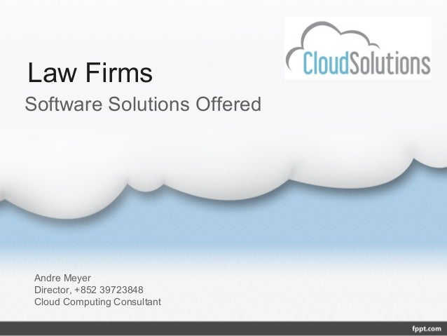 Solutions for law firms