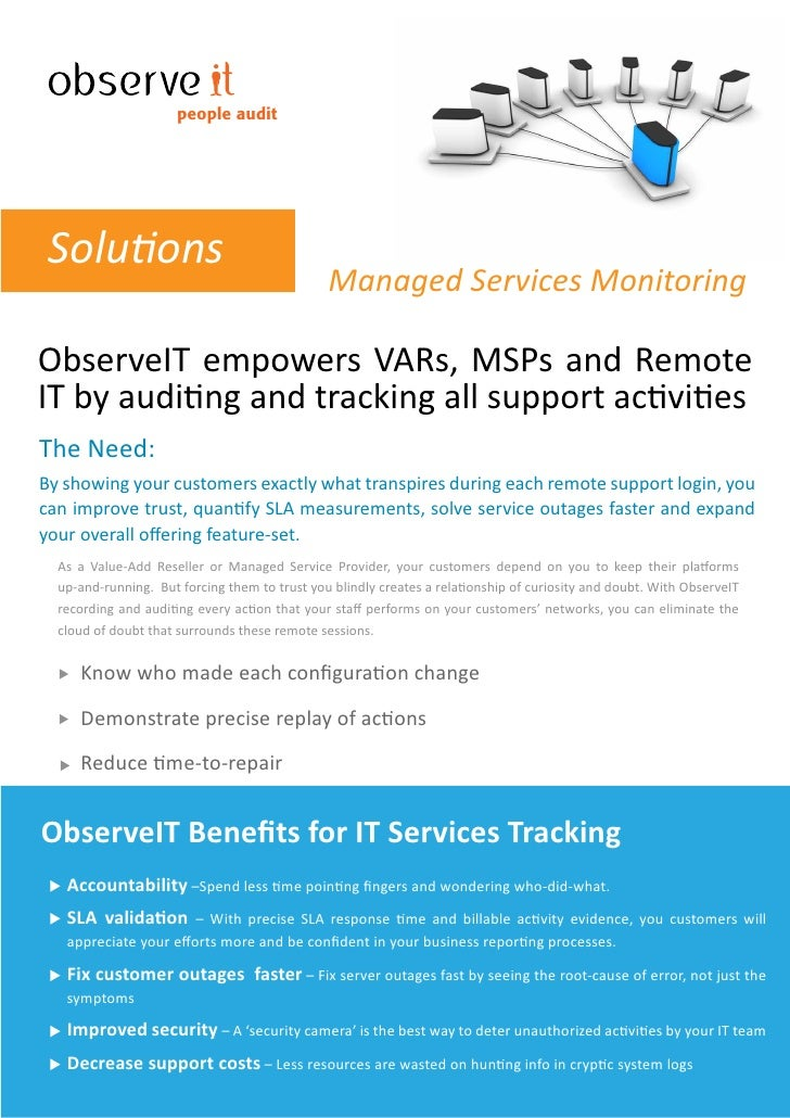 people audit      Solutions                                                Managed Services Monitoring  ObserveIT empowers...