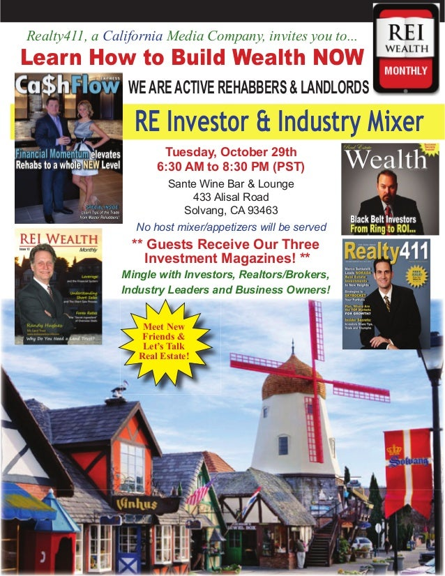 Realty411, a California Media Company, invites you to...  Learn How to Build Wealth NOW WE ARE ACTIVE REHABBERS & LANDLORD...