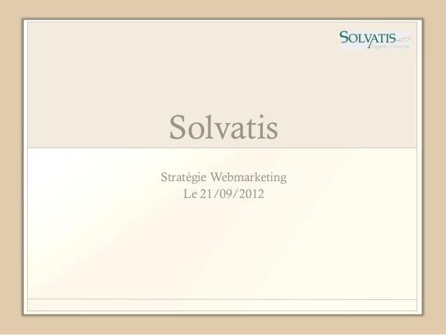 SolvatisStratégie Webmarketing    Le 21/09/2012