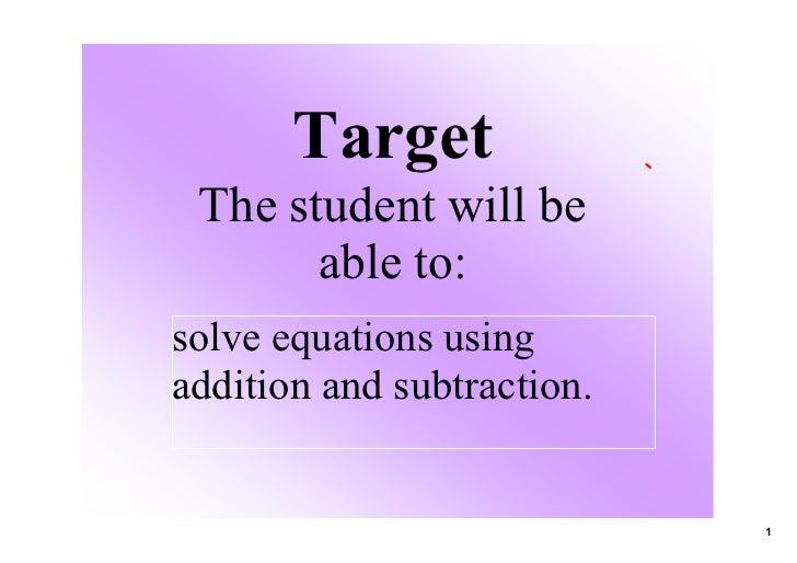 Solve Eq Notes 01