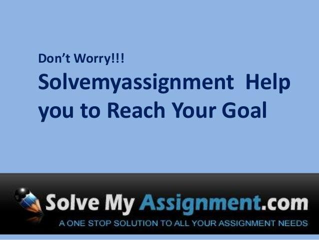 Make my assignment