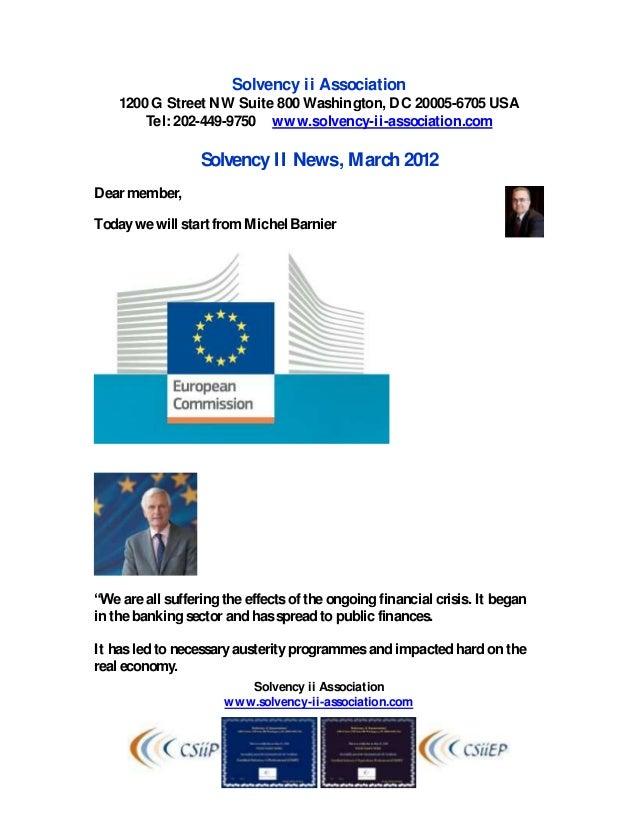 Solvency ii News March 2012