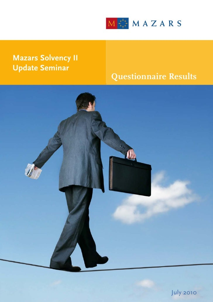 Solvency II Seminar Questionnaire Results