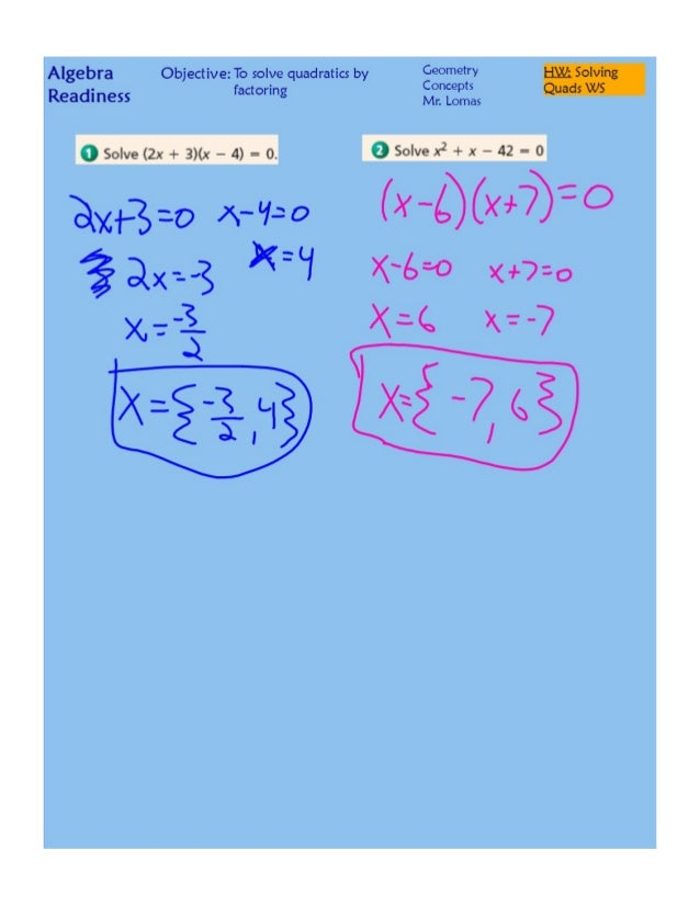 Quadratic equations worksheet pdf