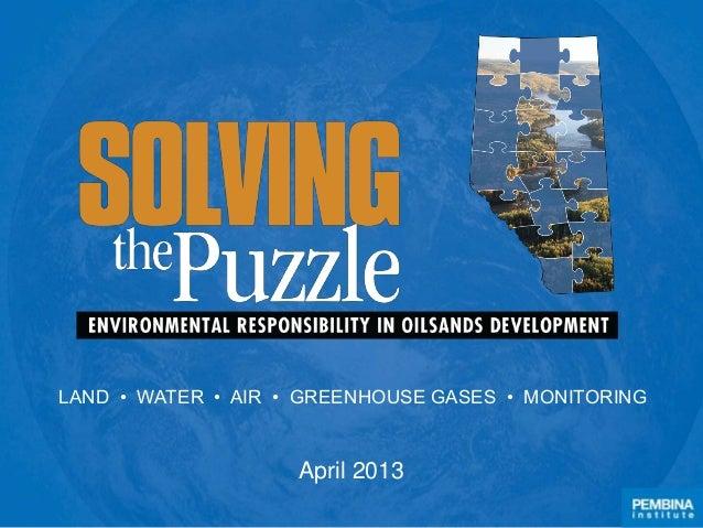 Solving the Puzzle Progress Update 2013