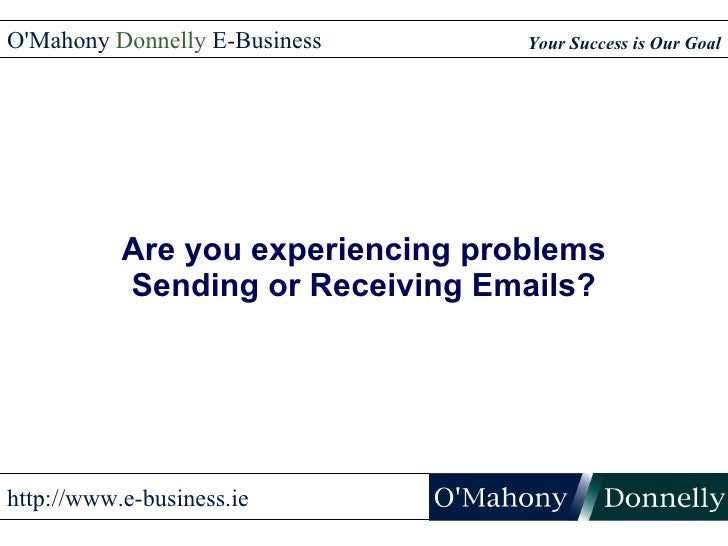 Solving E-mail Problems