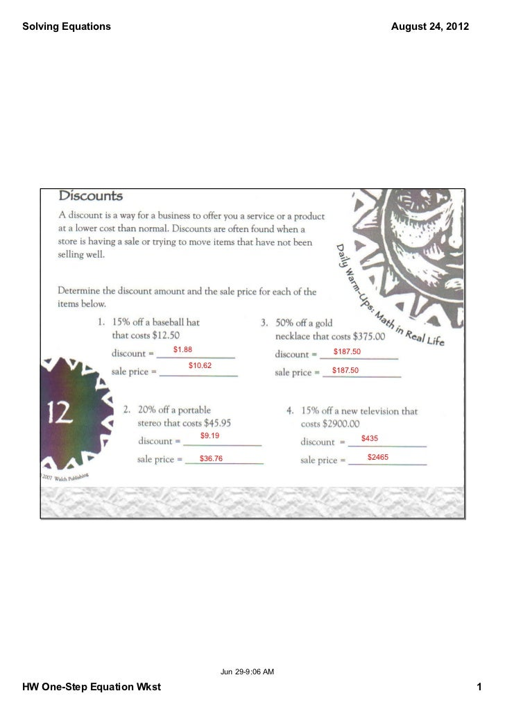 SolvingEquations                                                               August24,2012                           ...