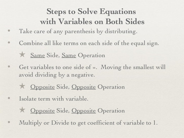 variable on both sides pdf