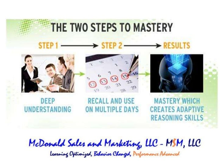 Solving Forgetting; Creating Mastery
