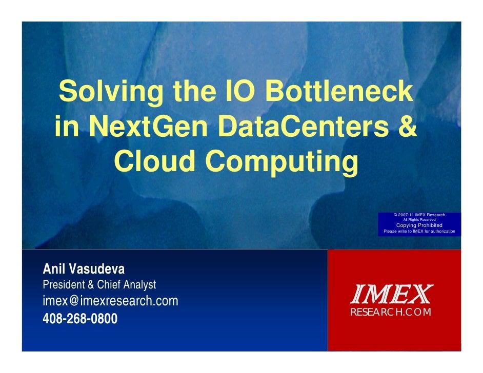 Solving the IO Bottleneck