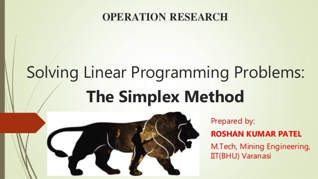 How to solve linear programming problems by simplex method