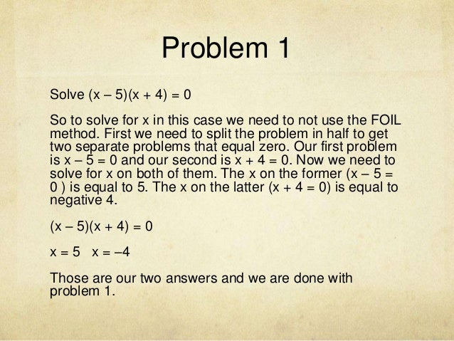Problem solving with equations