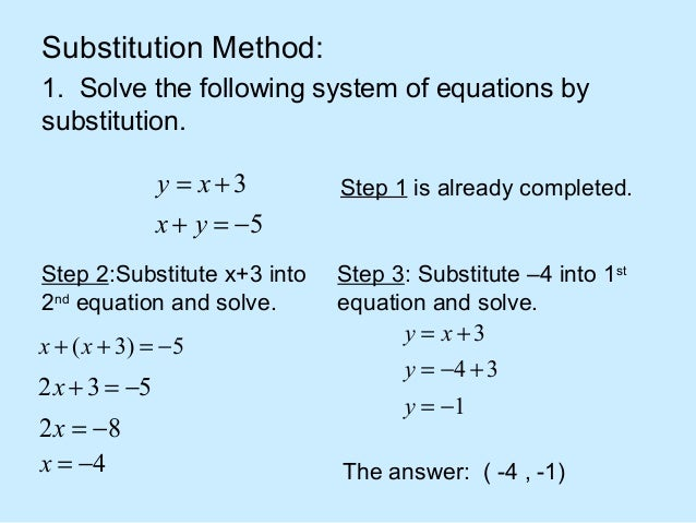 By Drawing The Line Y Solve The Equations : Linear system of equations solver how to solve