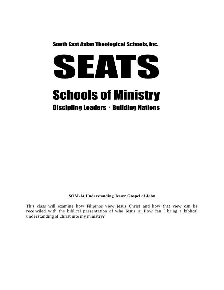 Som 153 understanding jesus -- john - workbook