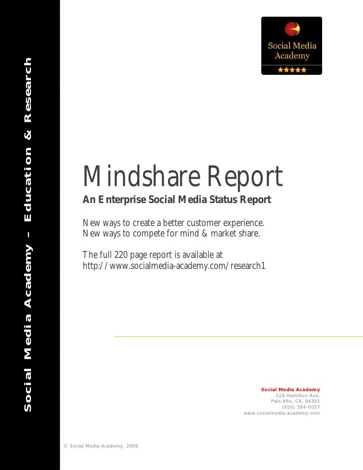 Mindshare report executive summary social media academy
