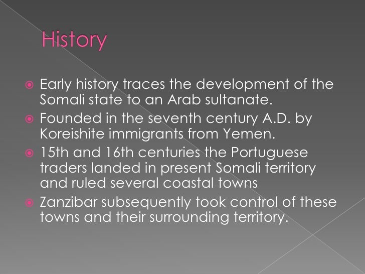 the executive summary on the somalias history Executive education navigator which mba  somalia how do you solve a problem like somalia  february 23rd has been the biggest day in somalia's recent history there is an expectation.