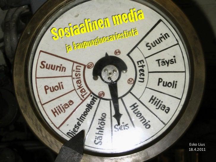 Sosiaalinen media kaupunginosaviestinnässä