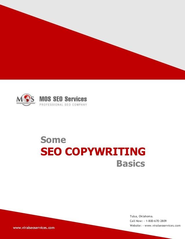 Some SEO Copywriting Basics