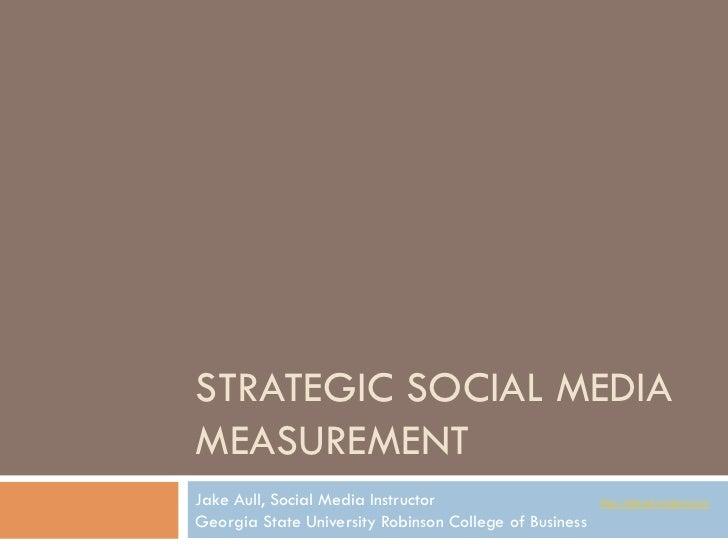 Social Media Metrics (analytics) slides