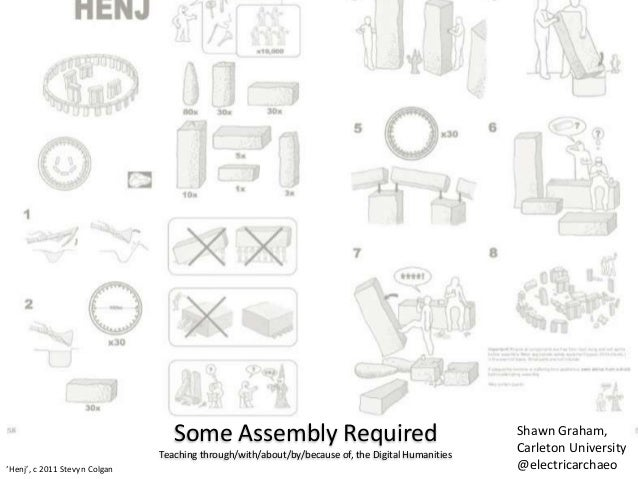 Some Assembly RequiredTeaching through/with/about/by/because of, the Digital Humanities'Henj', c 2011 Stevyn ColganShawn G...