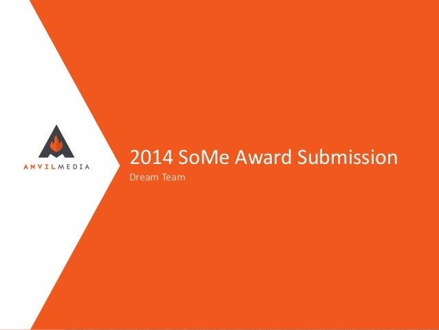 2014 SoMe Award Submission Dream Team