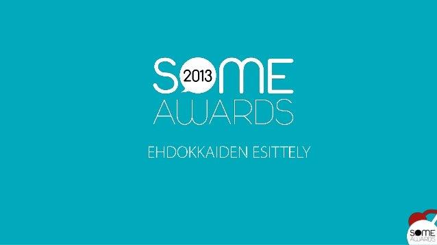 Some Awards 2013 -ehdokkaat