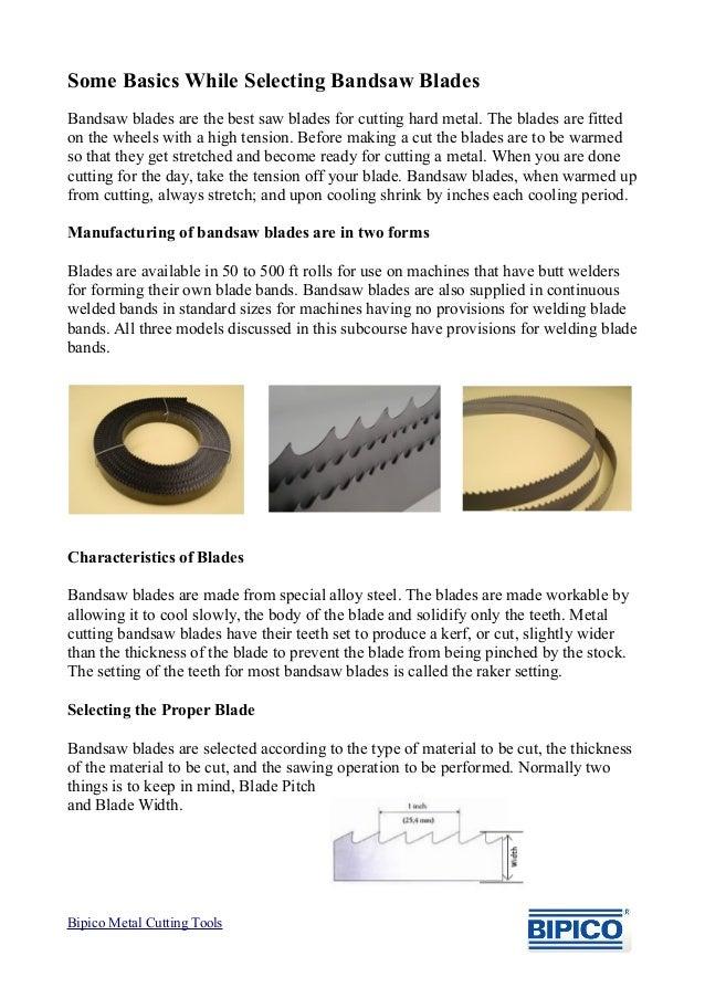 Selection Of Bandsaw Blades Bipico