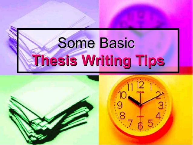 Thesis Writing Tips