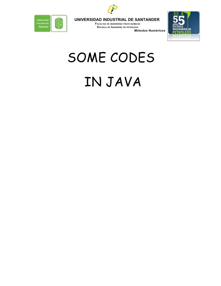 Some codes in java