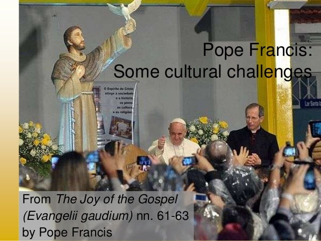 Pope Francis: Some cultural challenges