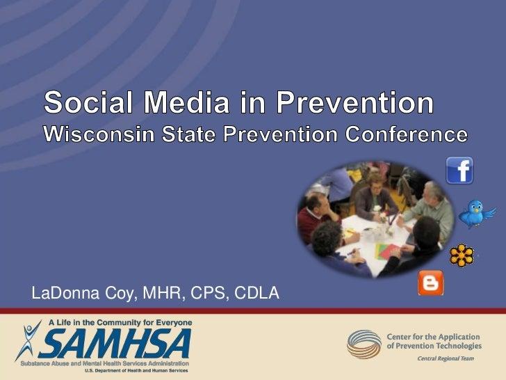 Social Media In Prevention #wspc2011