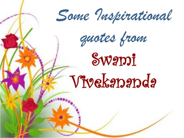 some inspirational quotes from swami vivekananda