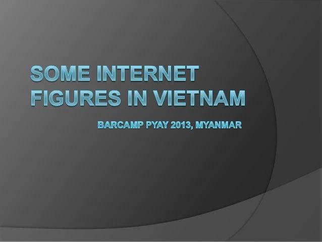Agenda Culture Internet figures in Vietnam Some prediction for Myanmar Internet