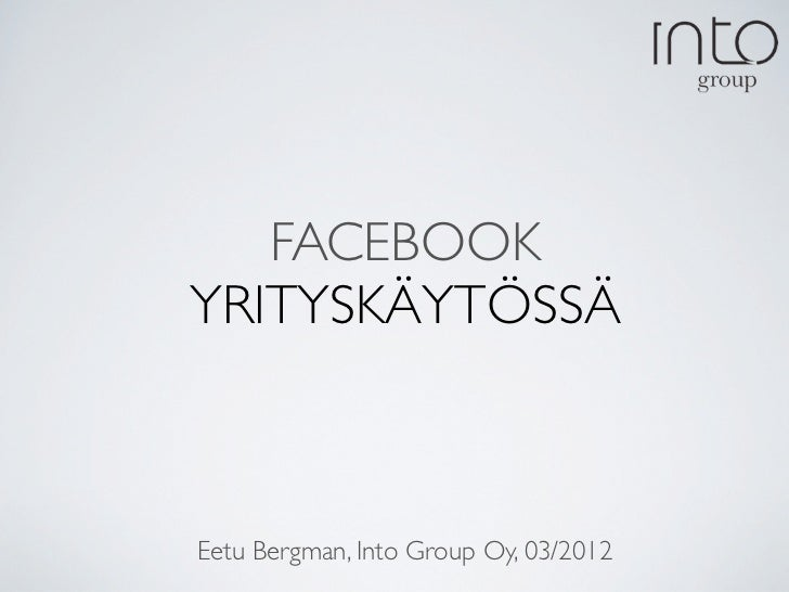 Sosiaalinen media - Facebook.