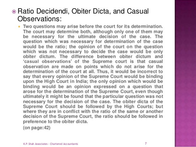 ratio decidendi and obiter dicta pdf